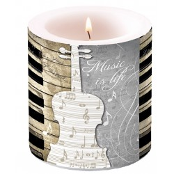 Music is Life Small Candle