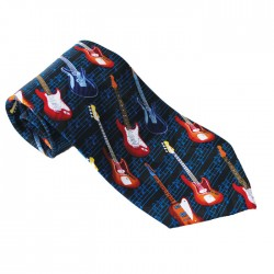 Tie Electric Guitars On Staves Polyester