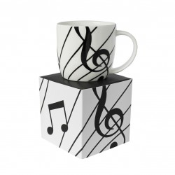 Bone China Boxed Mug Sonata White