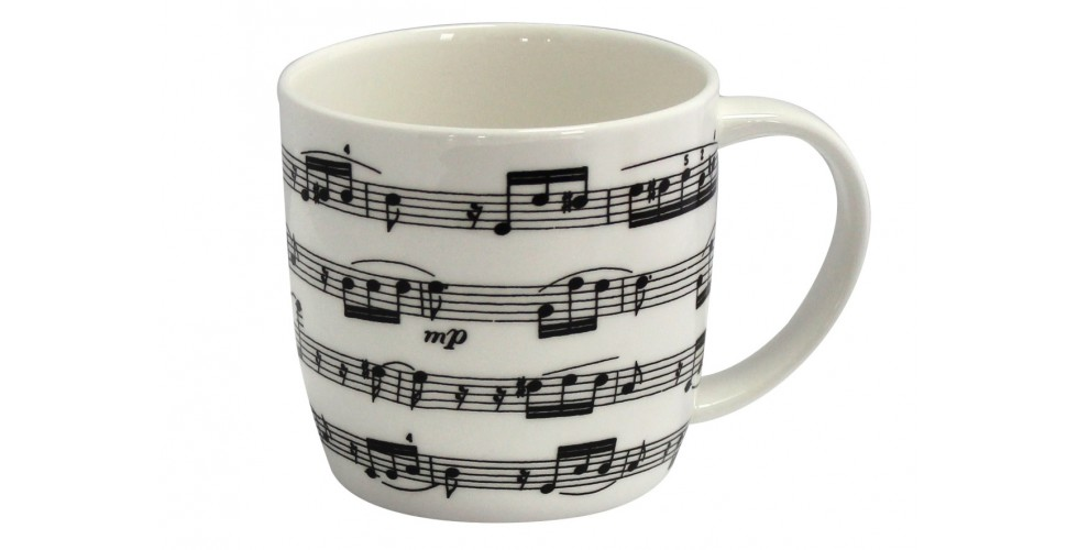 Bone China Boxed Mug Arpeggio White