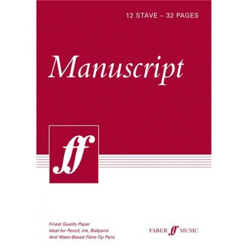 Manuscript A4 12-stave