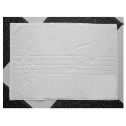 Bath Mat, Music Notes Motif