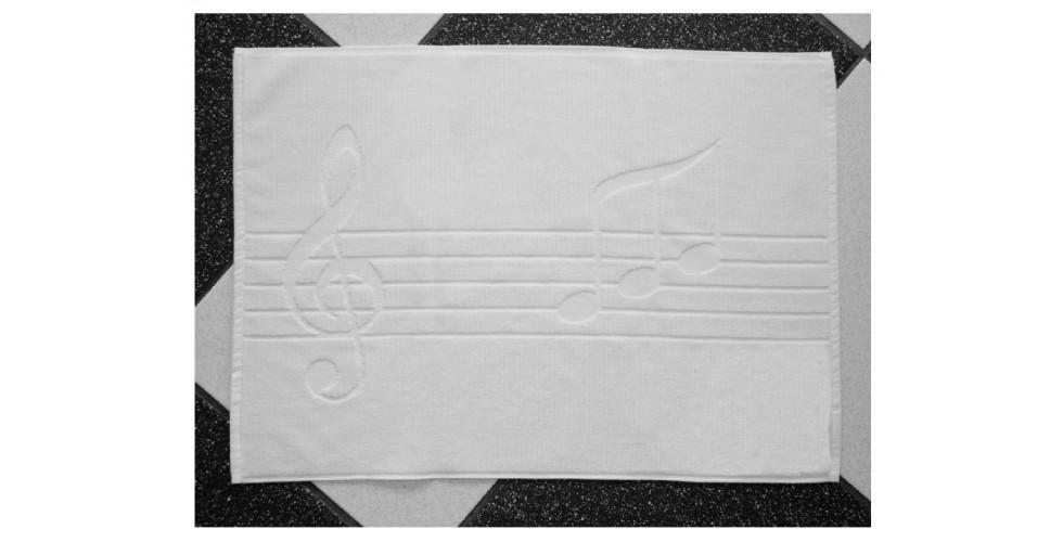 Bath Mat, Music Notes Motif