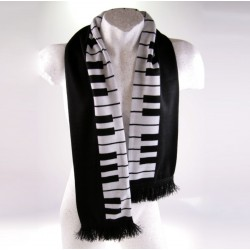 Keyboard Scarf  with fringes