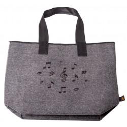Elegant Felt bag Music Notes