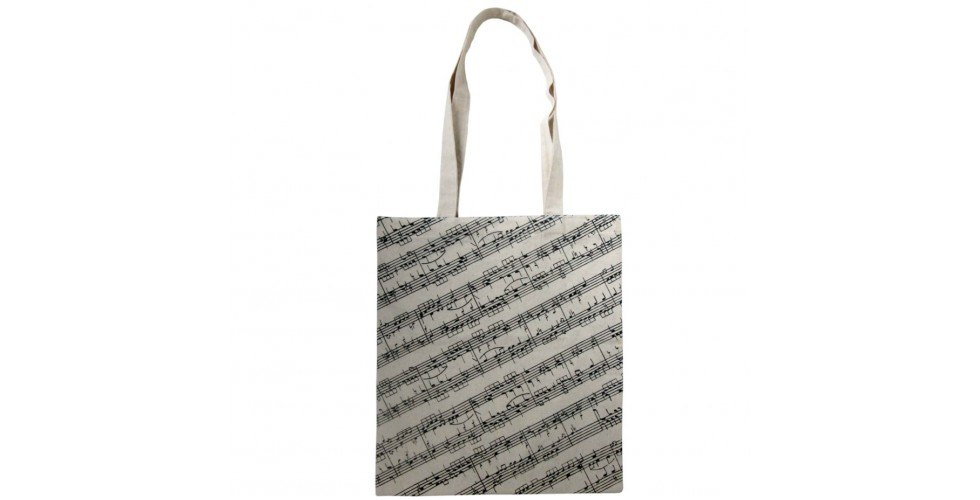Cotton Canvas Tote Bag Sheet Music
