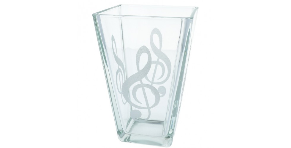 Glass Flower Vase treble clef
