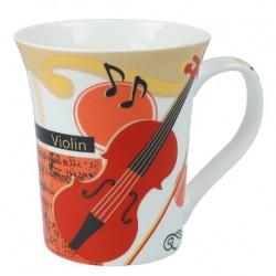 Violin ceramic mug