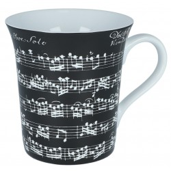 Porcelain Mug VIVALDI, black