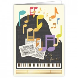 Greetings Card Piano Notes