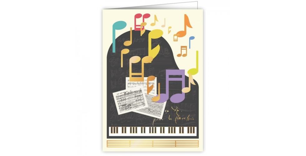 Greetings Card Piano Notes