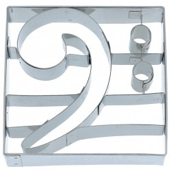 Bass Clef Cookie cutter