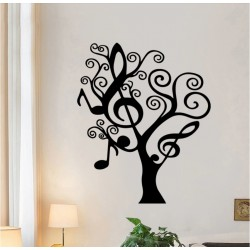 Music Notes Tree Wall Sticker