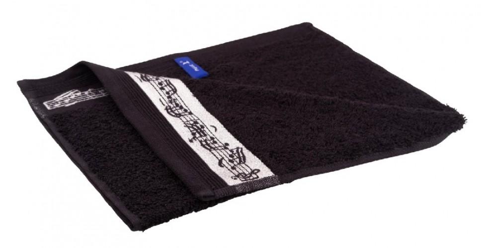 Guest towel black 30 x 50 cm