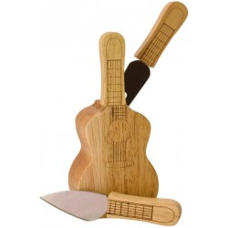 Cheese set Guitar, knife block