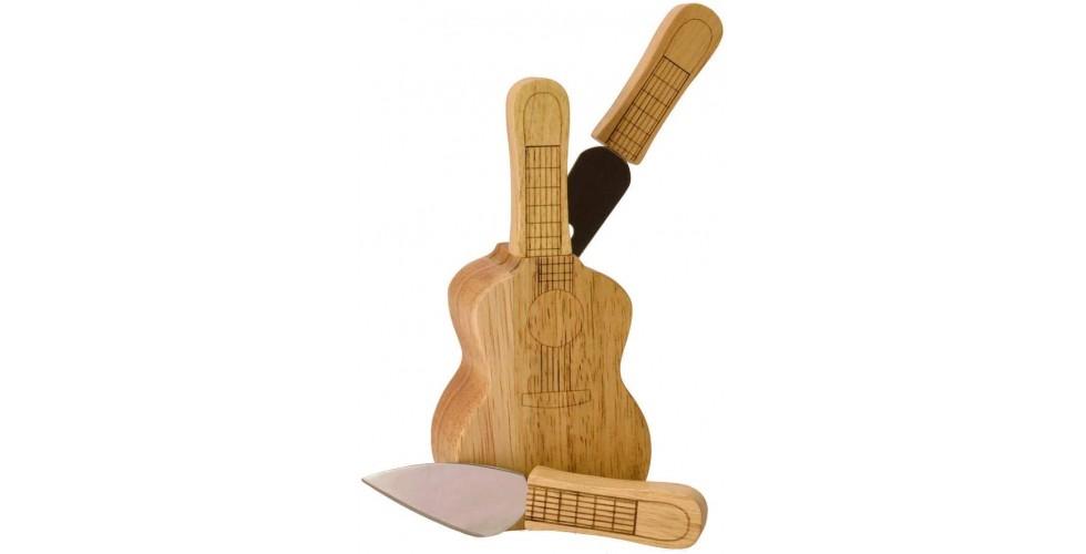 Cheese set Guitar, knife block
