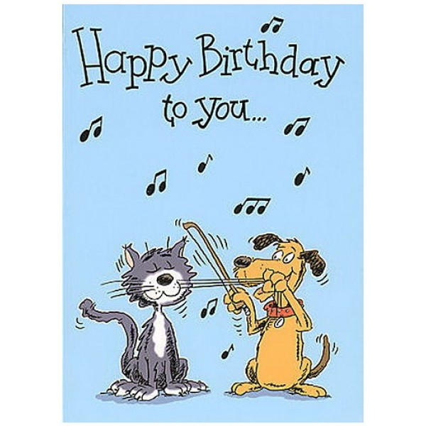 Music Gallery Kids 2 Birthday Card