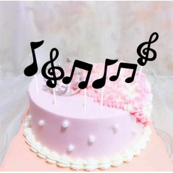 Music Cake Toppers Music Notes 6pcs/set