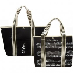 Canvas Tote Bag Treble Clef/Sheet Music Design