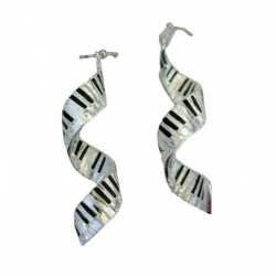 Earrings Spiral Keyboard