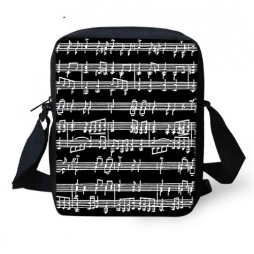 Mini Crossbody Bag Sheet Music Black