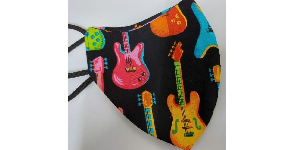 Guitars Mask 100% cotton