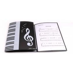 A4 6 Pages Folding Music Score Folder