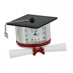 Miniature Clock Graduation Hat & Scroll