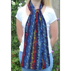 Rainbow Music Scarf