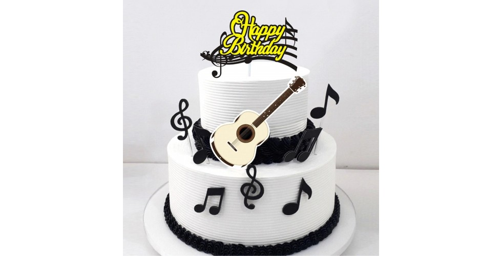 9 pcs / set Musical note Cartoon Cake Topper Cupcake