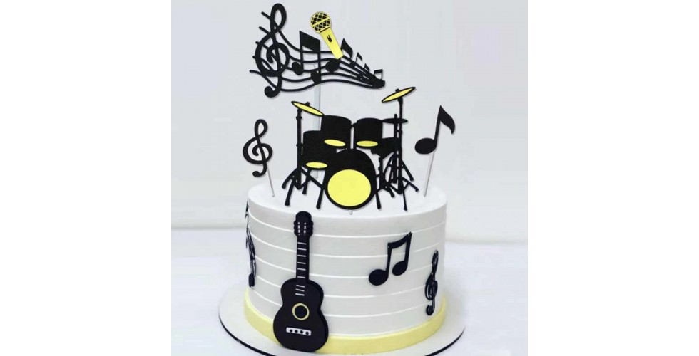 8 pcs / set Musical Notes Cupcake Toppers