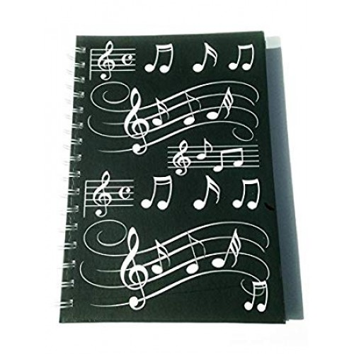 A5 Hardback Spiral Notebook Musical Notes