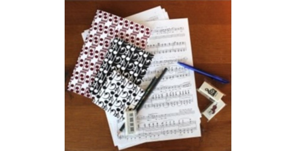 Music Notes Notebooks set of 3