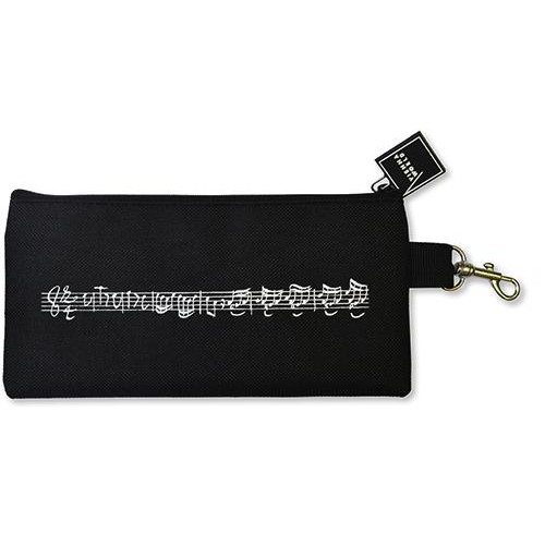 Pencil case Line of notes black Vienna World