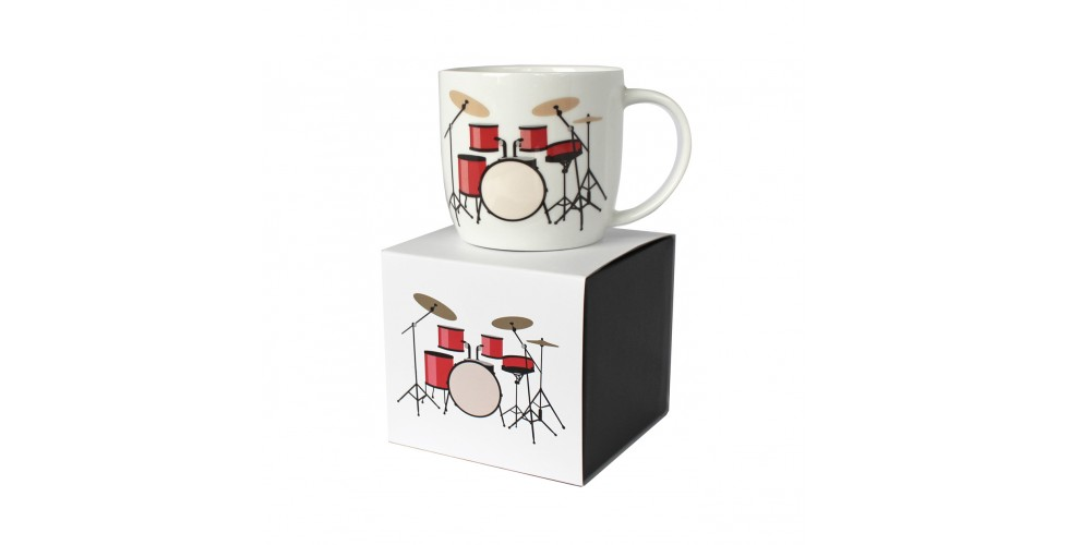 Rock Club Boxed Mug Drum Kit White