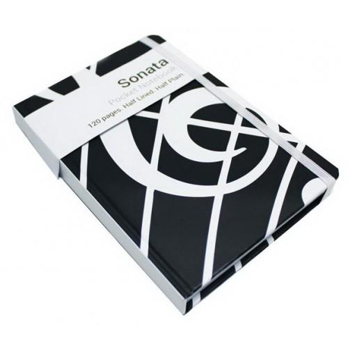 A6 Pocket Notebook Sonata Black