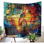 Colorful Music Tapestry, Psychedelic Tapestry130 x 150 cm