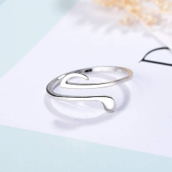 Silver Music Note Ring Adjustable