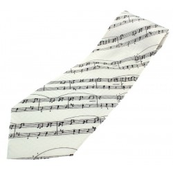 Tie Manuscript On White Silk