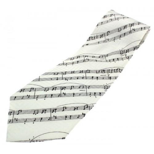 Tie Manuscript On White Silk