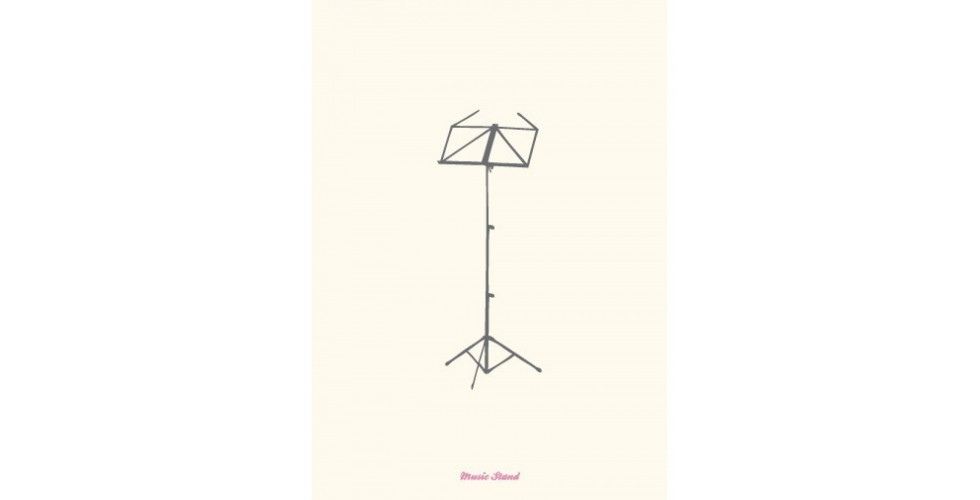 Vintage Music Stand Greeting Card