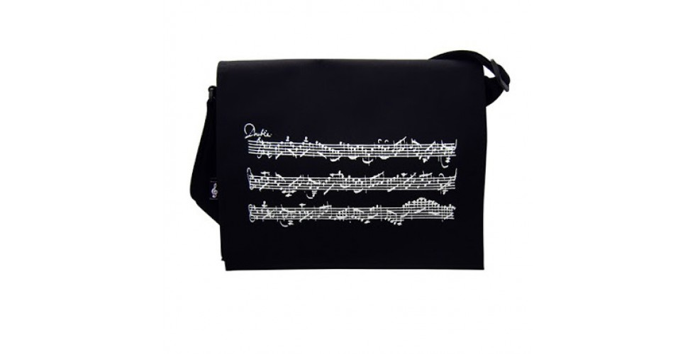 Shoulder bag with music stave design