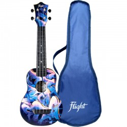 Flight TUS40 ABS Travel Ukulele - Graffiti