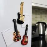 Fridge Magnet Black Guitar