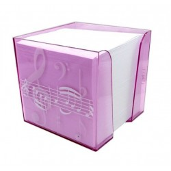 Memo Note Block Treble Clef /Pink