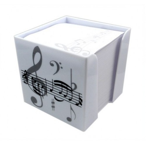 Memo Note Block Treble Clef / White