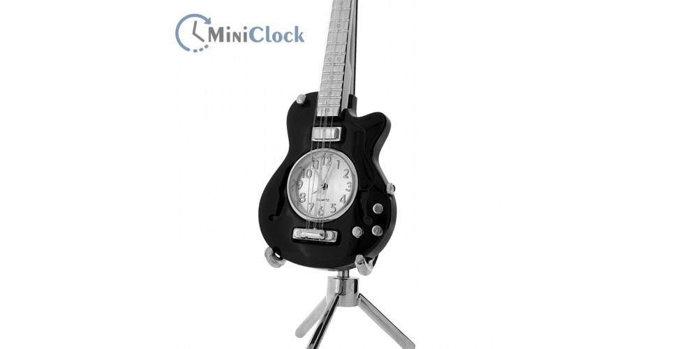 Miniature Clock Electric Guitar (black)