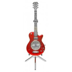 Miniature Clock Electric Guitar (red)