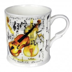Fine Chine Mug Violin Design