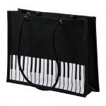 Jute carrier bag with keyboard design